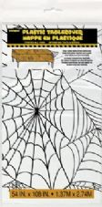 1 Clear Cobweb Plastic Tablecover